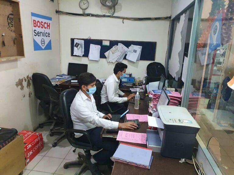 car repair accounting team