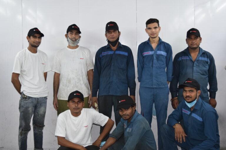 Car Repair mechanic team